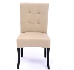Seriena Melbourne Tufted Back Dining Chair In Beige Leather, Ivory Leather  Dining Chairs, Tufted Part 91