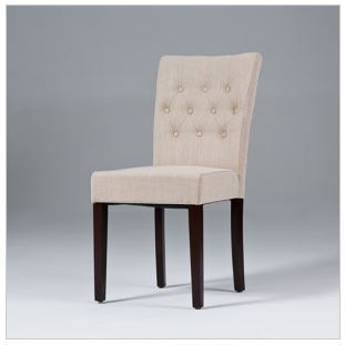 Dining Chair Upholstered | Linen Dining Chair | Fabric dining room ...