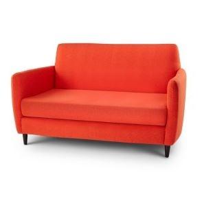 Orange loveseat Purple Loveseat faux wool furniture Mid
