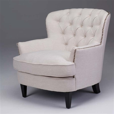 tufted sofa accent chairs seriena beige accent chair upholstered chairs upholstered. Black Bedroom Furniture Sets. Home Design Ideas