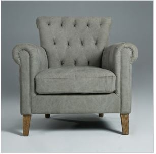 Accent Chairs | Natural wood legs | Seriena Furnishing |Tufted Back ...