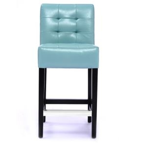 Blue Barstools Leather Barstool With Back Support U Bar And Stools Stool Chairs Counter Height Modern