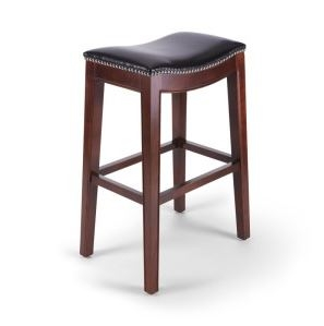 Fine Seriena Modern Bar Stool With Leather Seats And No Back Support Andrewgaddart Wooden Chair Designs For Living Room Andrewgaddartcom