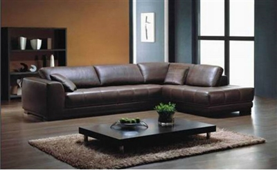 Fantastic Seriena W Series Large L Shaped Sectional Sofa In Brown Top Grain Leather Forskolin Free Trial Chair Design Images Forskolin Free Trialorg