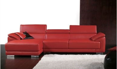 Seriena W series L Shaped Sectional Sofa/Corner Sofa with Three Seater and  Chase Lounge in Top Grain Leather